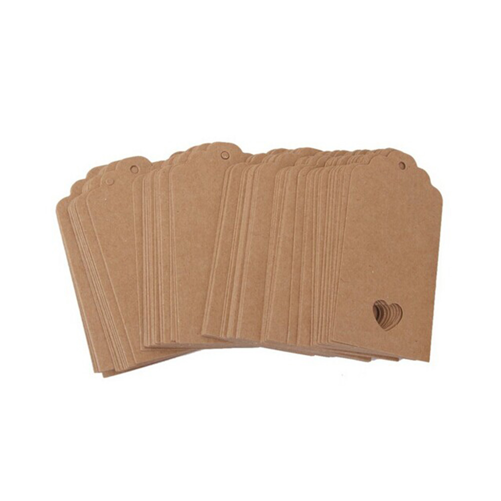 Heart scalloped kraft paper card blank tag wedding favour gift this item is a pack of 100pcs blank paper cards which is made of craft paper great for wedding favour party gift tag luggage label jeuxipadfo Choice Image