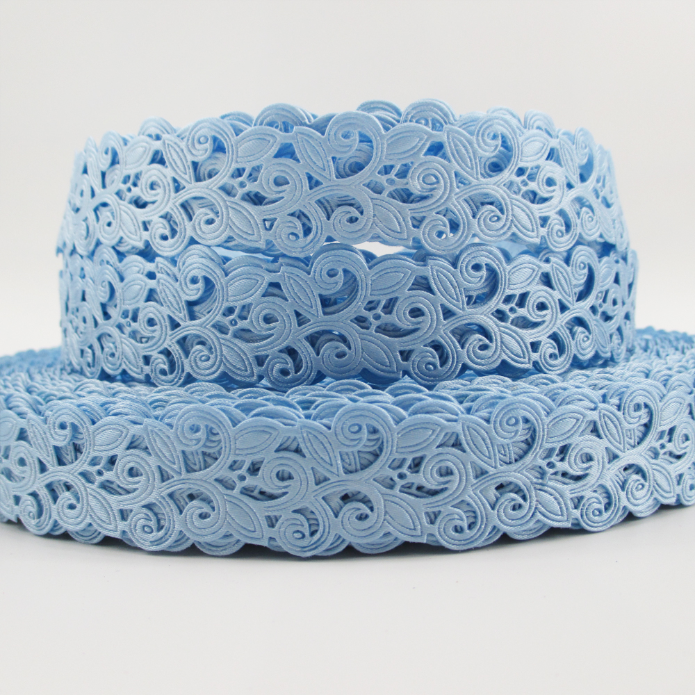 blue party wedding ribbon- floral