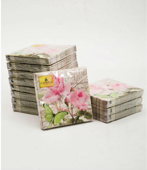 Floral Vintage Wedding Napkins