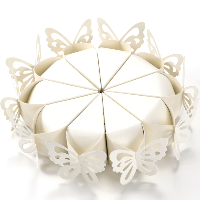 white butterfly wedding favour boxes